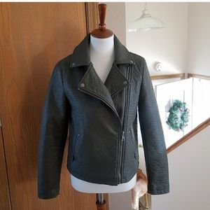 Forever 21 Olive Faux Leather Jacket